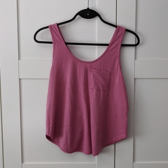 ❄️ 3/$25 Drapey Pink Cropped Tank with Back Zipper